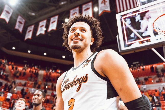 Former Oklahoma State star Cade Cunningham, shown March 1, 2021, averaged 20.1 points, 6.2 rebounds and 3.5 assists per game last season for the Cowboys. Photo Courtesy of Courtney Bay/OSU Athletics