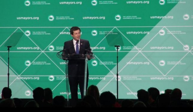 South Bend, Ind., Mayor Pete Buttigieg announced his presidential bid for the 2020 election on Sunday afternoon. File Photo by Lucas Robinson/Medill Washington