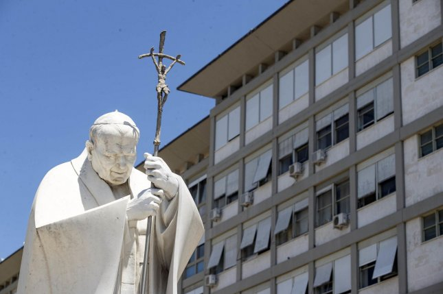 Pope Francis up and around after intestinal surgery at Rome hospital