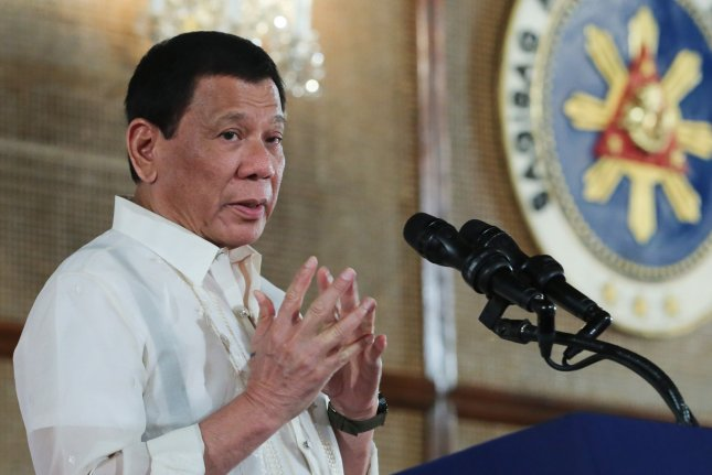 Philippines President Rodrigo Duterte is moving to withdraw Manila from the International Criminal Court, his office said Wednesday. File photo by King Rodriguez/EPA-EFE