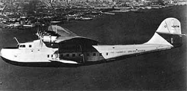 On November 22, 1935, a Pan American Martin 130 flying boat called the China Clipper began regular trans-Pacific mail service. The flight from San Francisco to Manila, Philippines, took 59 hours and 48 minutes. File Photo courtesy of the National Advisory Committee for Aeronautics