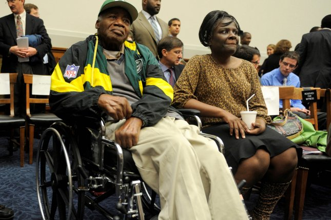 Former NFL Green Bay Packers safety player Willie Wood battled an advanced stage of dementia for at least 10 years. He died Monday. File Photo by Mike Theiler/EPA