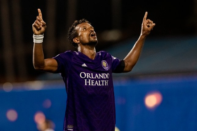 Orlando City SC forward Nani had a goal and an assist in the second half to lead his squad to a 2-1 win against Inter Miami CF in the MLS is Back Tournament opener Wednesday in Orlando, Fla. Photo courtesy of Orlando City SC