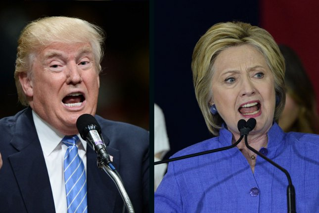 Donald Trump leads Hillary Clinton by 1 percentage point in Friday's UPI/CVoter tracking poll. UPI file