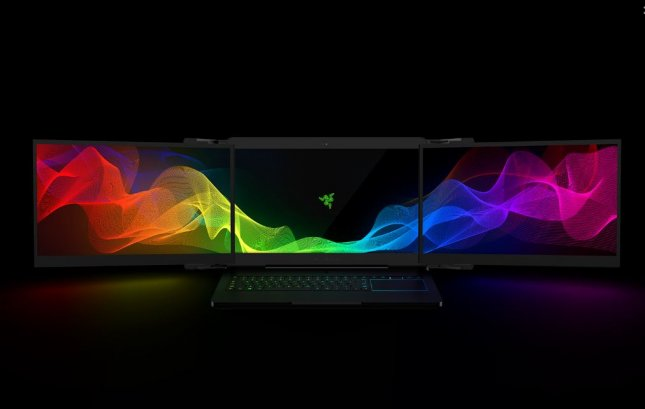 Razer debuted Project Valerie, dubbed the world's first triple display laptop, during the 2017 International CES in Las Vegas on Sunday, and said Tuesday the two prototypes had been stolen. Photo courtesy Razer