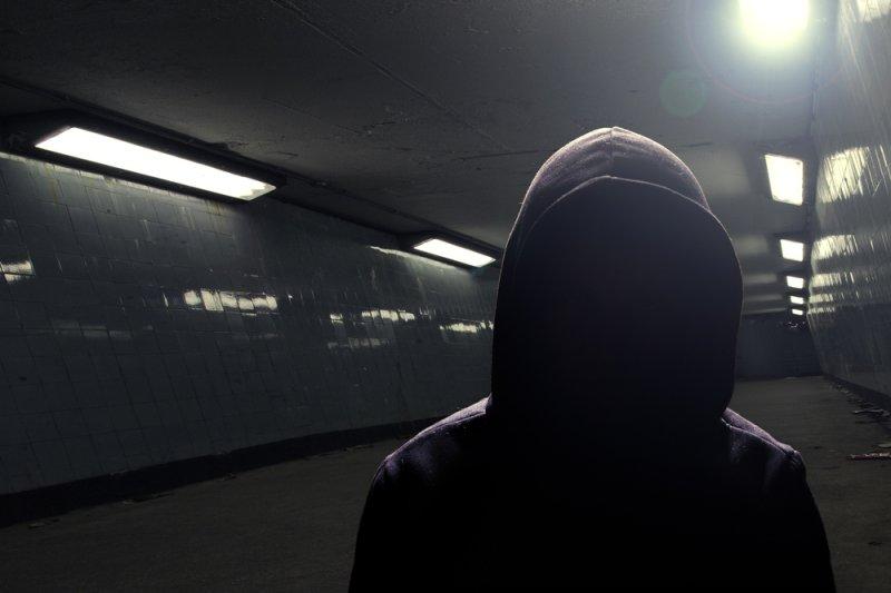 Hooded man. (UPI/Shutterstock/Pete Sherrard)