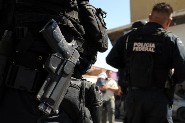 Mexican federal police forces in the violent border city of Ciudad Juarez. Photo by Frontpage/Shutterstock