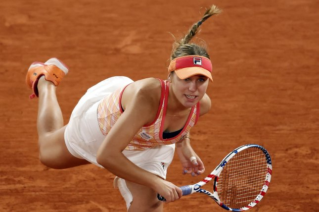 Sofia Kenin beat Fiona Ferro of France in three sets in the fourth round of the 2020 French Open Monday in Paris. Photo by Ian Langsdon/EPA-EFE