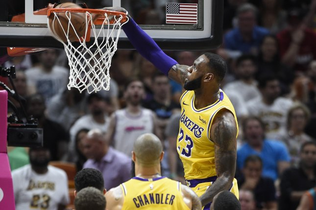 LeBron James and the Los Angeles Lakers play host to the Indiana Pacers on Thursday night. Photo by Rhona Wise/EPA-EFE