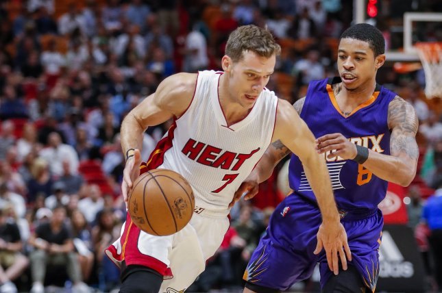 Miami Heat guard Goran Dragic (L) averaged 16.2 points per game while coming off the bench in last year's regular season. File Photo by Erik S. Lesser/EPA-EFE