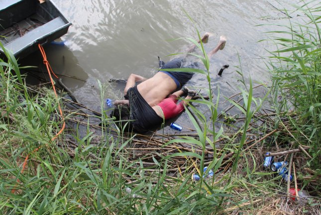El Salvador's government announced Tuesday it will pay to repatriate the bodies of a man and his daughter who drowned while attempting to cross the Rio Grande from Mexico into the United States. Photo by Abraham Pineda-Jácome/EPA