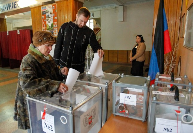 Ukraine and other nations condemned Russian-backed elections in separatist regions of eastern Ukraine as illegitimate. Photo by Alexander Ermochenko/EPA