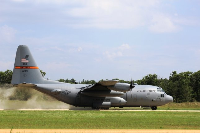An aircrew with the Illinois Air National Guard's 182nd Airlift Wing at Peoria operates a C-130 Hercules at Young Air Assault Strip in July 2017. File Photo by Scott T. Sturkol/Fort McCoy/U.S. Army