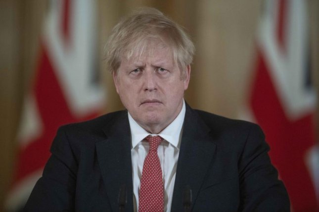British Prime Minister Boris Johnson speaks at a news conference at 10 Downing Street in London, Britain, on March 20. Photo by Julian Simmonds/EPA-EFE