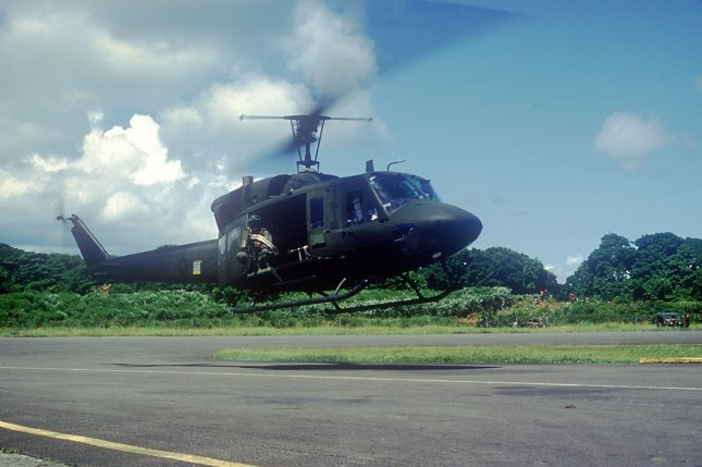 Wreckage from crash of a Bell helicopter used by Chevron found off the coast of Angola, company says. File Photo by USAF/UPI