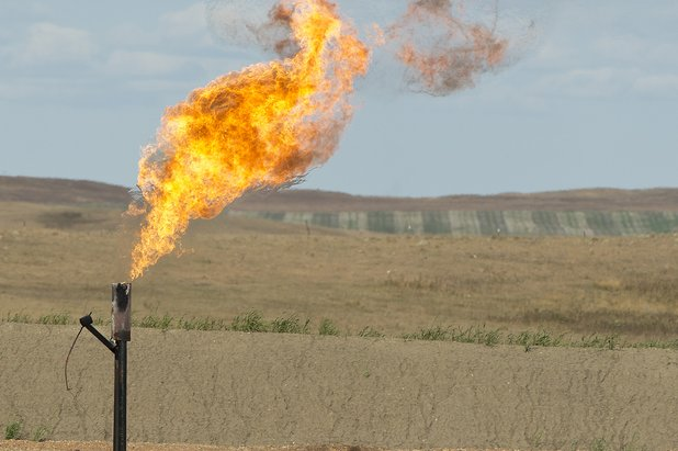 Gas production in North Dakota after crude oil output from the Bakken shale reached its peak in December 2014. File photo by Steve Oehlenschlager/Shutterstock