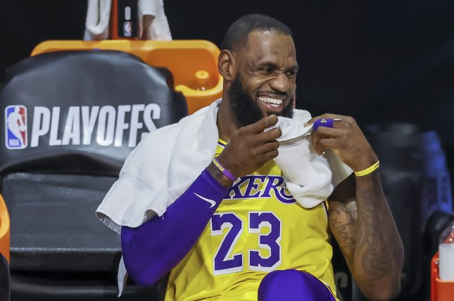 Los Angeles Lakers star LeBron James led the NBA in assists last season with 10.2 per game. File Photo by Erik S. Lesser/EPA-EFE
