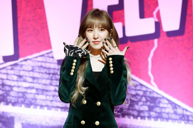 Wendy, the main vocalist of the South Korean girl group Red Velvet, sustained a broken pelvis, a broken wrist and facial injuries in a fall Wednesday during a rehearsal for a TV show. Photo by Yonhap/EPA-EFE