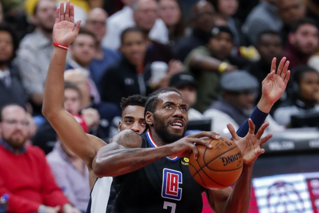 Los Angeles Clippers forward Kawhi Leonard (2) is averaging a career-high 5.2 assists per game this season. Photo by Erik S. Lesser/EPA-EFE