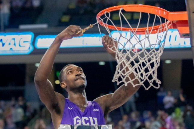 Grand Canyon University forward Oscar Frayer played in the Antelopes' first-round NCAA tournament game Saturday in Indianapolis and died in a car crash Tuesday near Lodi, Calif. Photo by David Kadlubowski/GCU Athletics