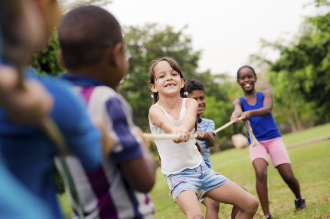 A study at the University of Bristol in England found children become less active as they age and progress through school. Photo by Diego Cervo/UPI