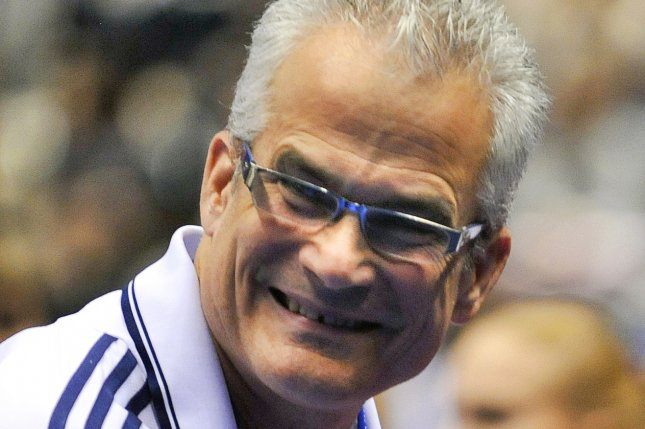 Former U.S. Olympics gymnastics coach John Geddert was found dead on Thursday after being charged with 24 crimes including human trafficking and criminal sexual conduct related to abuse of his students. File Photo by Kimimasa Mayama/EPA-EFE