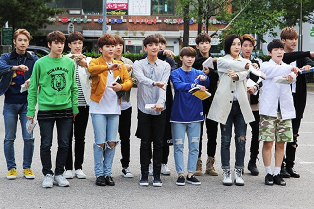Seventeen going to a recording in May 2016. The band teased a new project from members Jun and The8 this week. Photo by Jin-gook/Wikicommons