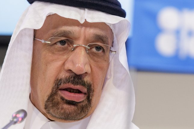 OPEC President Minister Khalid Al-Falih said he would extend oil production cuts another nine months. Photo by Lisi Niesner/EPA-EFE
