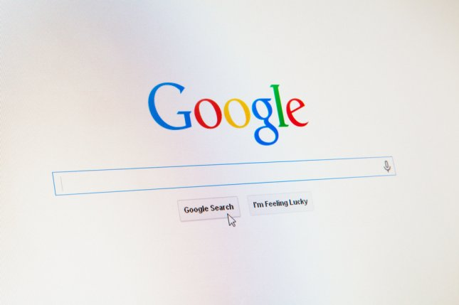 The Google search engine post as it appears on the Internet. Google said Friday it is tightening rules on hacked information and misinformation used in advertising. Photo by George Dolgikh/UPI-Shutterstock