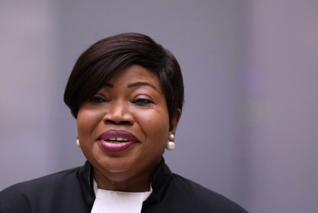International Criminal Court Prosecutor Fatou Bensouda appears at the trial of alleged Malian Islamist militant Al-Hassan Ag Abdoul Aziz Ag Mohamed Ag Mahmoud at The Hague on July 8, 2019. She announced an investigation into the Israeli-Palestinian conflict on Wednesday. Photo by Eva Plevier/EPA-EFE