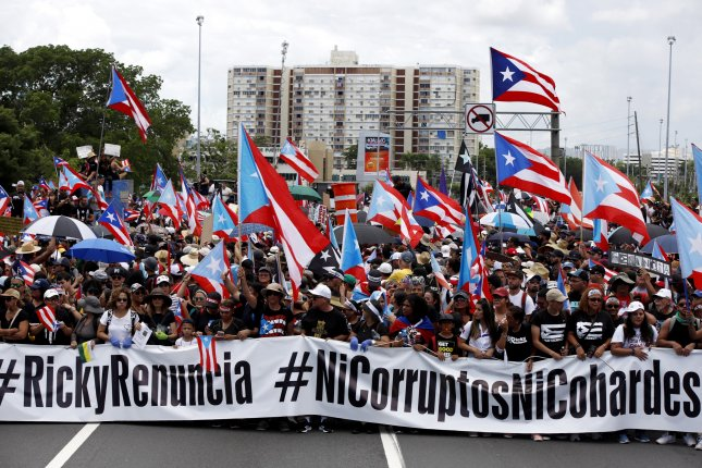 Thousands of Puerto Ricans participate in the second march demanding the resignation of Gov. Ricardo Rossello. Rossello's presumed successor Wanda Vazquez turned down the opportunity to replace him as governor. File Photo by Thais Llorca/EPA-EFE