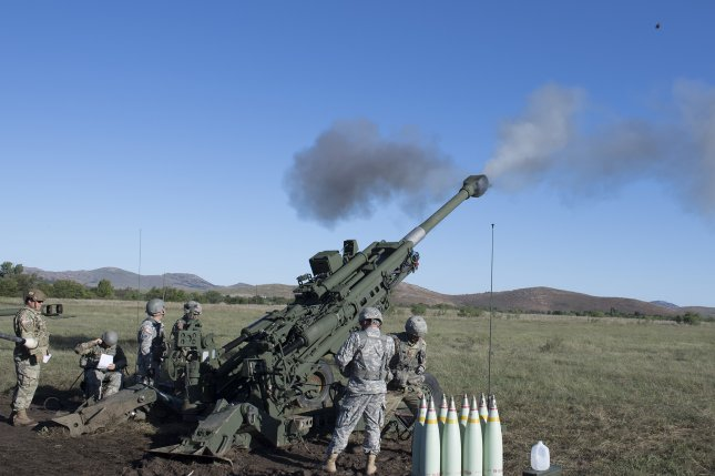 BAE's 155mm BONUS precision-guided ammunition can be fired from the M777A2 howitzer, pictured being fired by members of Charlie Company, 1st Battalion, 160th Field Artillery, 45th Infantry Brigade Combat Team. Photo by Maj. Geoff Legler/U.S. Army National Guard
