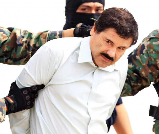 Accused Mexican drug kingpin Joaquin El Chapo Guzman used a train to transport drugs from Mexico to New York, a former cartel member testified Monday. File Photo by Mario Guzman/EPA