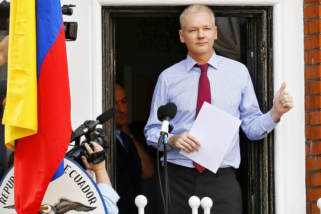 Wikileaks founder Julian Assange on Friday saw the rape investigation against him dropped by the Swedish Prosecution Authority. File Photo by Kerim Okten/EPA