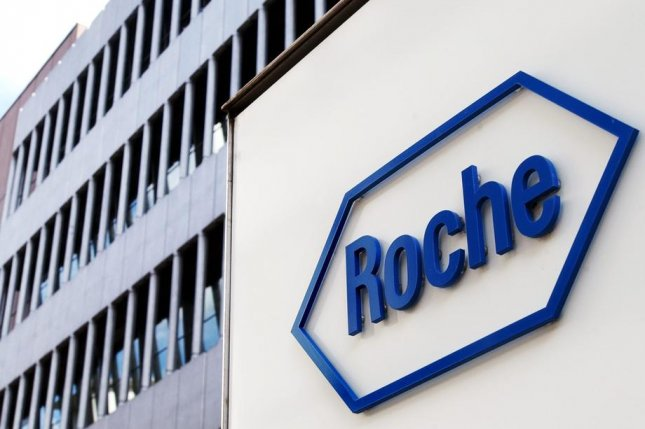 Roche said its test works by detecting antibodies in the body's immune system that fight the virus' spike protein crown. File Photo by Steffen Schmidt/EPA-EFE