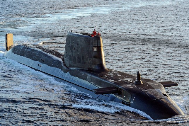 The HMS Ambush submarine sustained minor damage Wednesday when it collided with another vessel off the coast of Gibraltar. Photo by Will Haigh/British Royal Navy