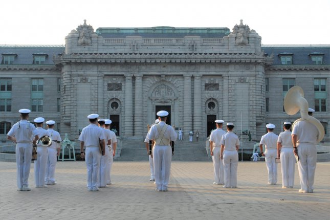A U.S. Naval Academy midshipman died Friday after being found unresponsive in the Bancroft Hall dormitory (pictured). File photo by Mass Communication Specialist 1st Class Chad Runge/Wikimedia Commons/UPI