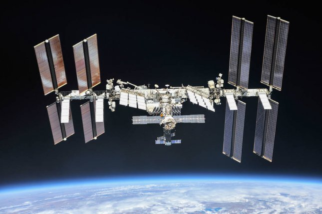 The International Space Station, photographed from a Soyuz capsule in 2018, will continue to have Russian participation. Photo courtesy of NASA