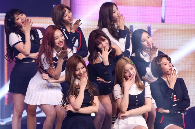 Twice celebrated after reaching 100 million views on YouTube for the ninth time. File Photo by Yonhap News Agency/EPA