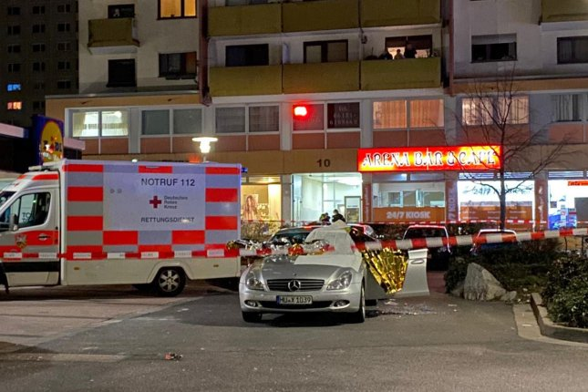 Police said eight people were killed in a shooting at two locations in the German city of Hanau on Wednesday night. Photo by WIESBADEN112/EPA