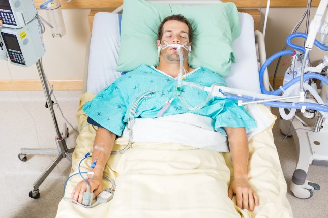 Even at around 42% the death rate for COVID-19 patients in the ICU is still nearly double the death rate of ICU patients battling other viral pneumonias (22%), researchers say. File Photo by Tyler Olson/Shutterstock