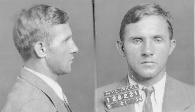 German-born carpenter Bruno Richard Hauptmann was charged on September 21, 1934 with the murder of the kidnapped son of Charles Lindbergh and Anne Morrow Lindbergh. The Lindbergh kidnapping was known as The Crime of the Century. Photo courtesy of the Flemington Police Department