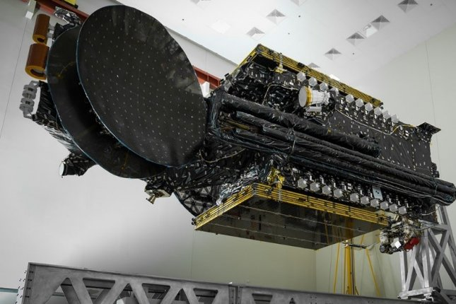 Sirius XM's latest broadcasting satellite, SXM-7, shown where it was built at Maxar Technologies' plant in Palo Alto, Calif., has malfunctioned in orbit. Photo courtesy of Sirius XM/Maxar