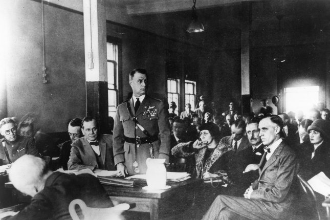 A scene taken from Gen. William Billy Mitchell's court martial in 1925. File Photo courtesy of U.S. Air Force