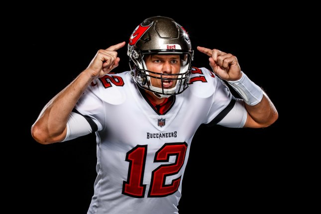 The Tampa Bay Buccaneers released photos Tuesday of quarterback Tom Brady in his new uniform. Photo courtesy of the Tampa Bay Buccaneers