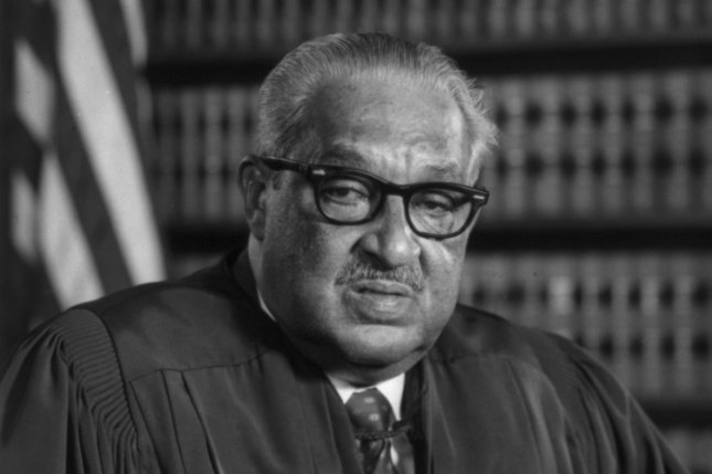 On October 2, 1967, Thurgood Marshall was sworn in as the first African-American justice of the U.S. Supreme Court. Photo courtesy Library of Congress