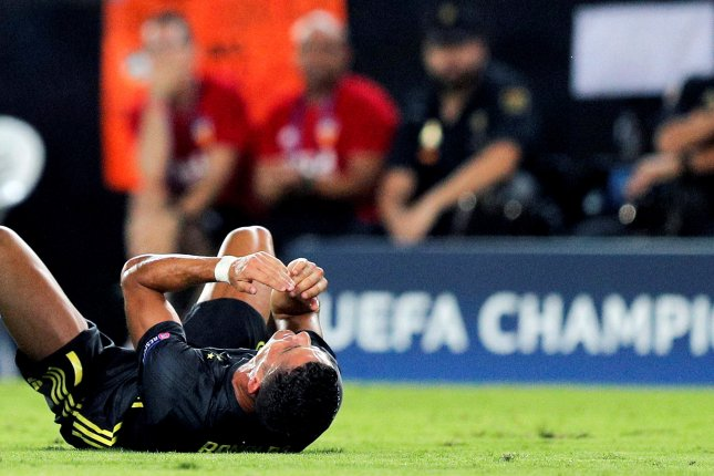 35980e3fe22 Juventus forward Cristiano Ronaldo reacts after being sent off during the  UEFA Champions League soccer match between Valencia CF and Juventus FC on  ...