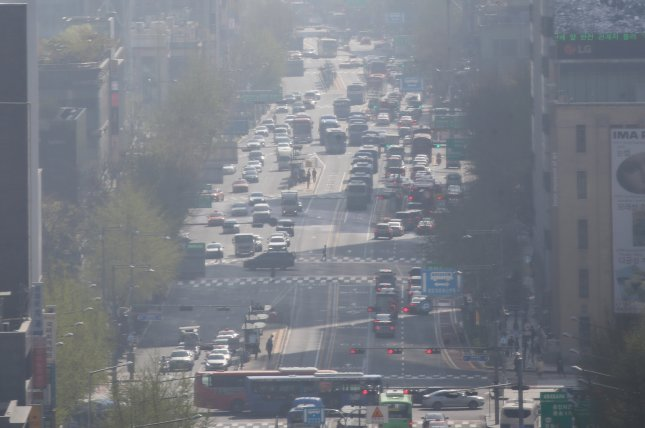 South Korean cities like Seoul are regularly affected by fine dust pollution in select seasons of the year. File Photo by Yonhap/EPA-EFE