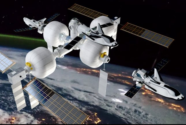 Sierra Nevada Corp. on Wednesday showed off illustrations of the company's proposed commercial space station. Image courtesy of Sierra Nevada Corp.