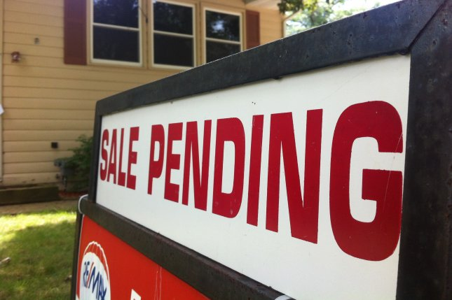 An undated image of a house with a sale pending sign. The National Association of Home Builders said home sales in May increased sharply, indicated the market in on the rebound with the easing of coronavirus restrictions. Photo by Dan Moyle/Flickr